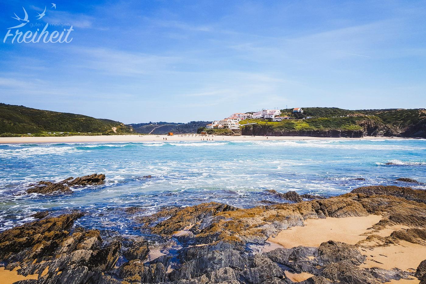 Der Schönste Strand An Der Westküste Portugals Guten